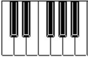 Clavier du piano